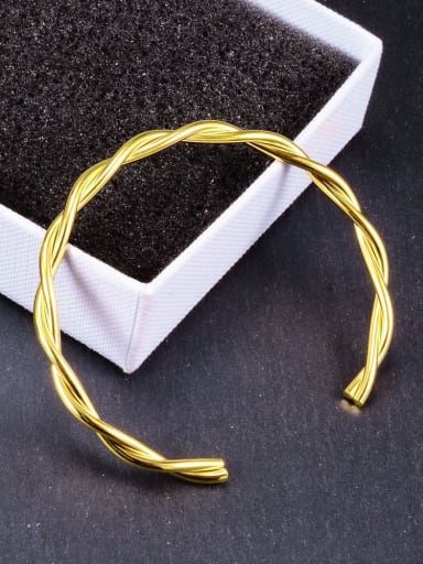 Gold double line Titanium Hollow Round Minimalist Hoop Earring