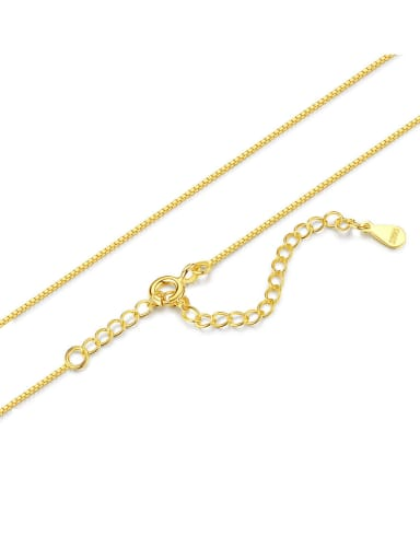 18K 925 Sterling Silver Minimalist Box Chain