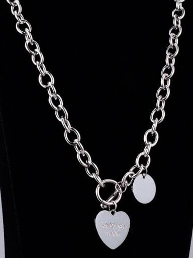 Titanium Heart Vintage Hollow  Chain  Necklace