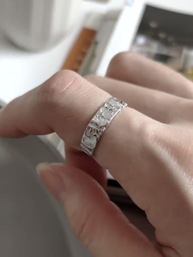 925 Sterling Silver Alien  Geometric Minimalist  Free Size Midi Ring
