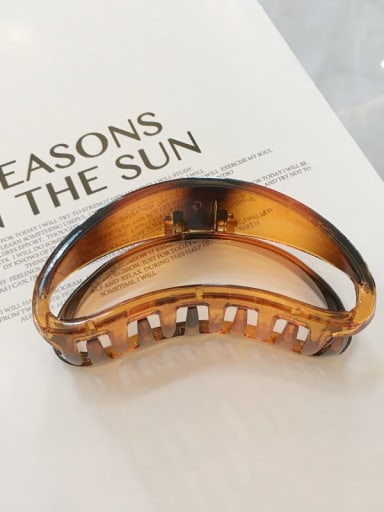 Amber Alloy  Cellulose Acetate Minimalist Geometric Jaw Hair Claw