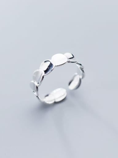 925 Sterling Silver Smooth Round Minimalist Free Size Ring