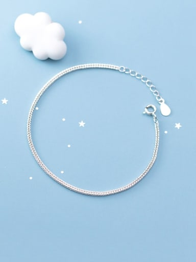 925 Sterling Silver Minimalist Fashionsingle chain bracelet