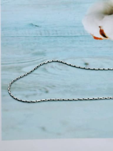 Bamboo chain xl013 925 Sterling Silver With Antique Silver Plated Simplistic Chain Necklaces