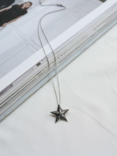 925 Sterling Silver With Antique star Necklaces