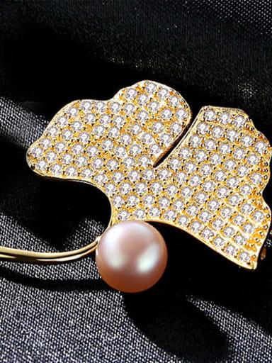 Pink 9G02 925 Sterling Silver Cubic Zirconia Flower Statement Brooch
