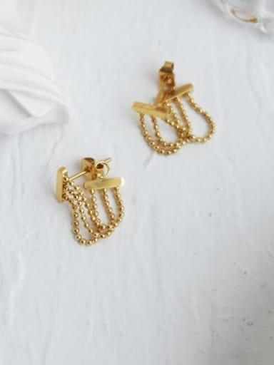 Titanium Bead Tassel Vintage Drop Earring