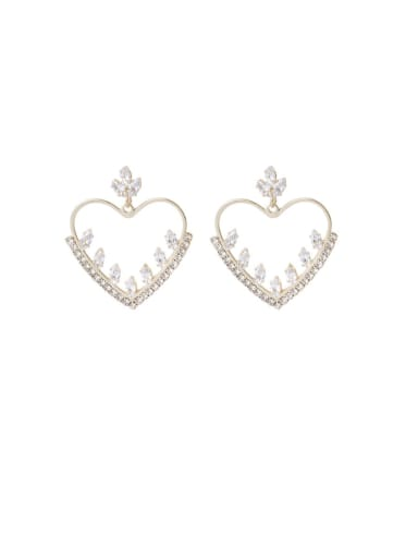 Alloy With Imitation Gold Plated Fashion Heart Drop Earrings