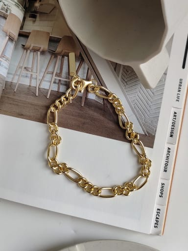 925 Sterling Silver Geometric Trend Link Bracelet
