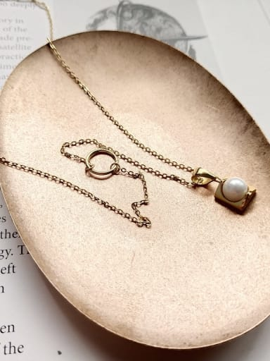 925 Sterling Silver Imitation Pearl White Necklace