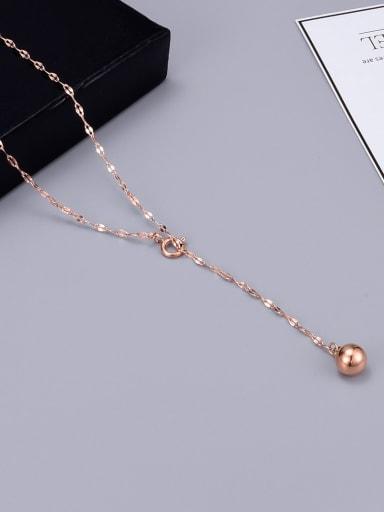 Titanium Ball Trend Lariat Necklace