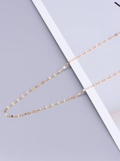 Lip Chain Gold L22 Titanium Minimalist Twisted Serpentine Chain