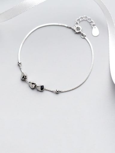 925 Sterling Silver  Minimalist Smooth geometric bracelet  Bracelet