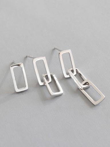 925 Sterling Silver Round Minimalist Drop Earring