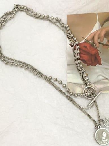 Titanium Heart Vintage Multi Strand Necklace