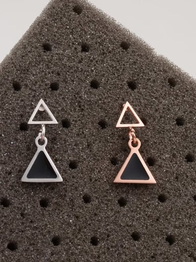 Titanium Acrylic Triangle Minimalist Drop Earring