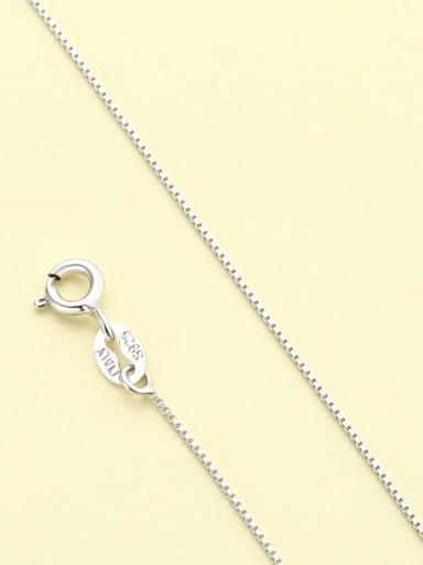 Platinum box chain 925 Sterling Silver Minimalist  Chain