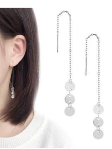 Titanium Tassel Minimalist Threader Earring