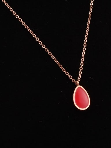 Titanium Red Water Drops Necklace