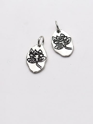 925 Sterling Silver With Vintage Flowers Pendant Diy Accessories