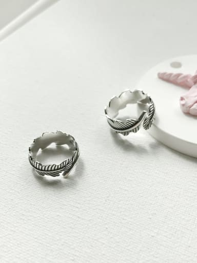 925 Sterling Silver Feather Artisan Geeky Ring