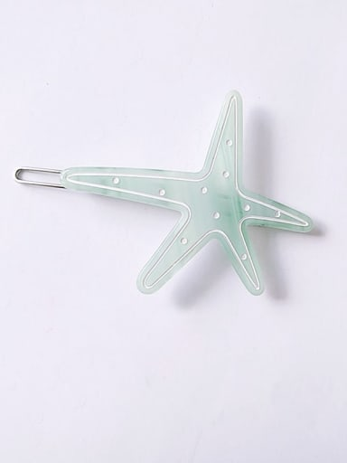green Cellulose Acetate Minimalist Star Hair Pin