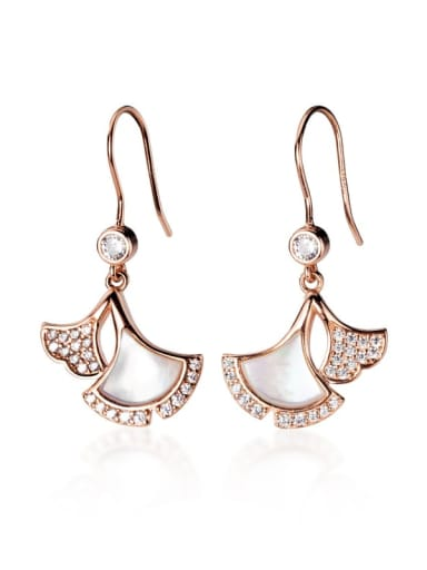 925 Sterling Silver Shell Irregular Minimalist Hook Earring