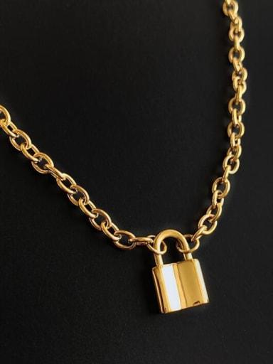Titanium Locket Vintage Hollow Chain Necklace