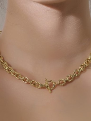 Ld528 clavicular chain Brass  Vintage Geometric chain  Earring Ring and Necklace Set