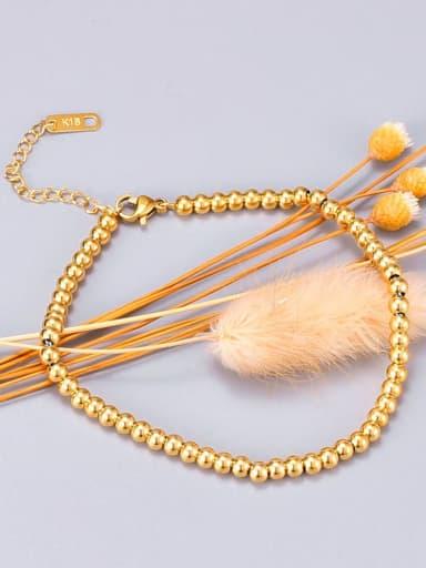 Titanium Bead Round Minimalist Beaded Bracelet