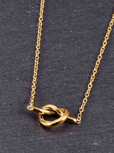 Titanium Bowknot Minimalist pendant Necklace