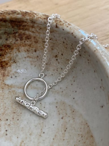 925 Sterling Silver Heavy Industry Irregular Necklace