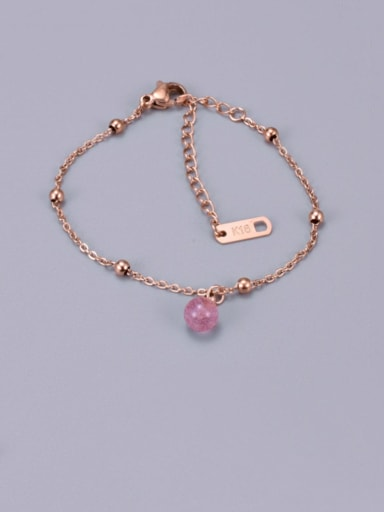 Titanium Bead Round Trend Adjustable Bracelet