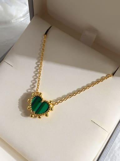 Golden green Copper Malchite Multi Color Necklace
