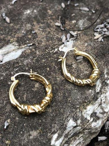 925 Sterling Silver  Hollow Round Vintage Hoop Earring