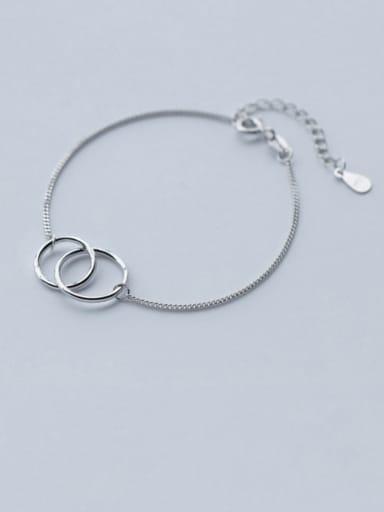 925 Sterling Silver  Minimalist Round Link Bracelet