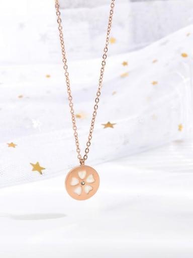 Titanium Shell Flower Minimalist Necklace