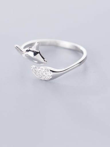 925 Sterling Silver Deer Minimalist Free Size Ring