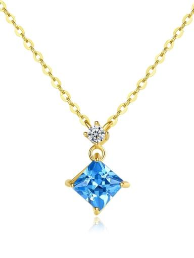 14k Gold simple Diamond Pendant Necklace