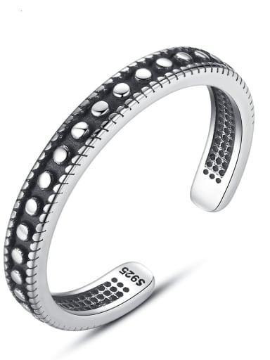 925 Sterling Silver Fashion embellishment retro adjustable ring