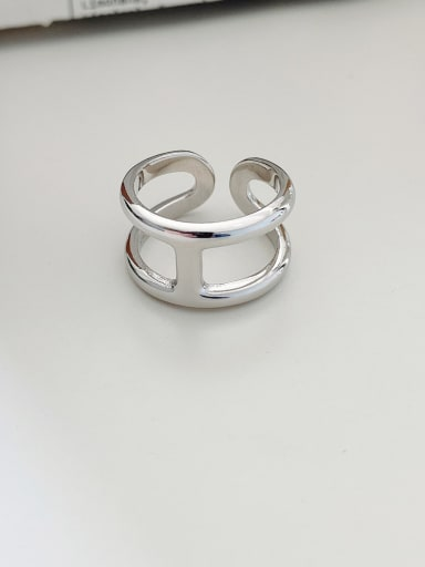 Thickened h ring 925 Sterling Silver Irregular Vintage Band Ring