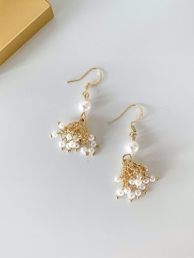 B Alloy With Imitation Gold Plated Vintage Irregular Drop Earrings