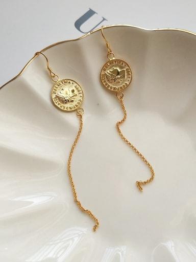 925 Sterling Silver cover Vintage tassel threader Earring
