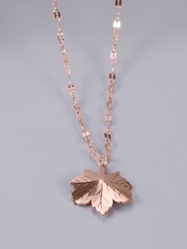 Titanium Leaf Classic Choker Necklace