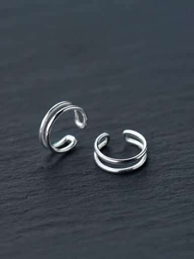 925 Sterling Silver Irregular Minimalist Clip Earring
