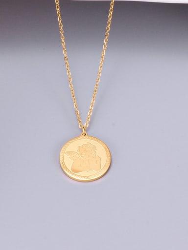 Titanium  Cupid Angel Necklace