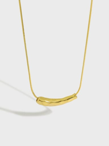 925 Sterling Silver Irregular Minimalist Necklace