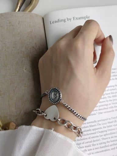925 Sterling Silver Rosary Vintage Link Bracelet