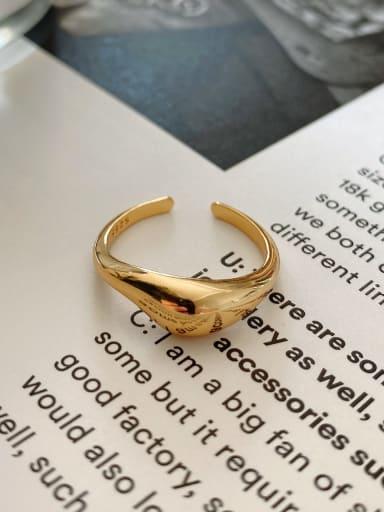 Arc face ring 925 Sterling Silver Irregular Minimalist Band Ring
