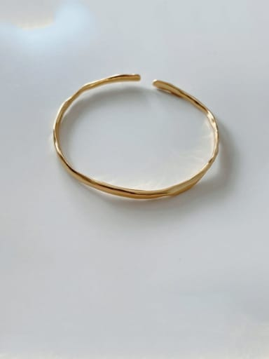 925 Sterling Silver Vintage Special Shaped Thin Bracelet Cuff Bangle